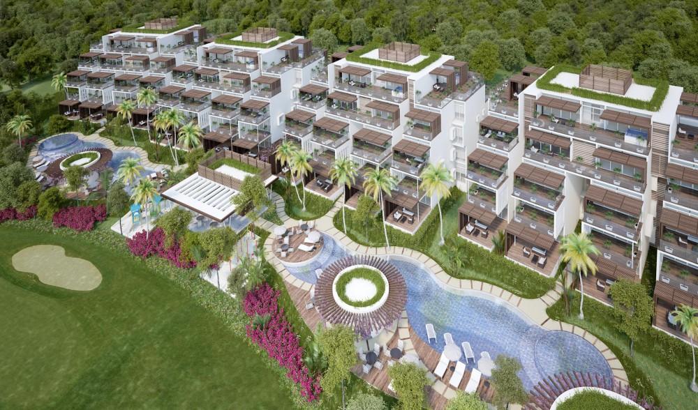 New condos for sale at terrazas tulum with terraces - Dekzeil terras balkon ...