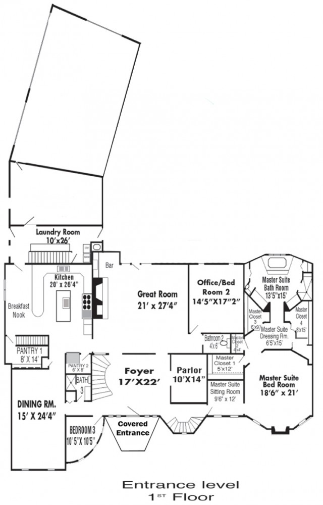 Ist Floor Entrance level