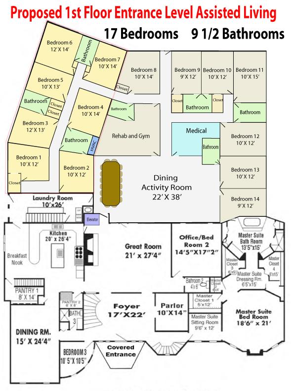 1st Floor Optional Assisted Living Outline